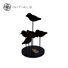5 Birds Modern Mango Wood Black