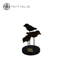 3 Birds Modern Mango Wood Black
