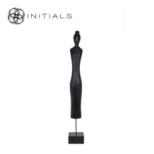 Female Sculpture Mango Wood Black