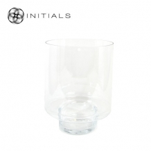 Candleholder Glass Clear Round