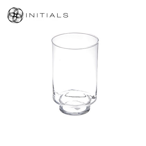 Candleholder Clear Glass Round
