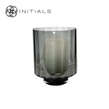 Candleholder OPTIC Smoke Glass