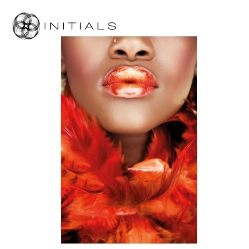 Walldecoration Face Orange Lips  Matt Aluminum