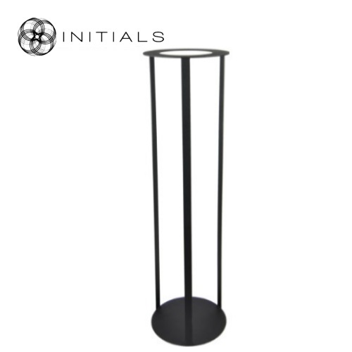 Stand Iron Frame Structure Matt Black Round