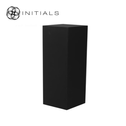 Pillar Wood | Zinc Matt Black Square With Structure