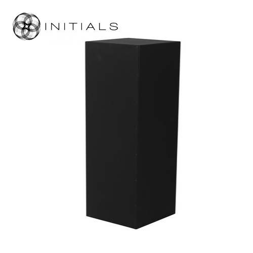 Pillar Wood | Zinc Structure Matt Black Square