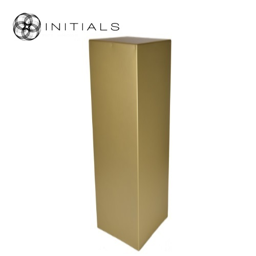 Pillar Wood | Zinc Structure Matt Gold Square