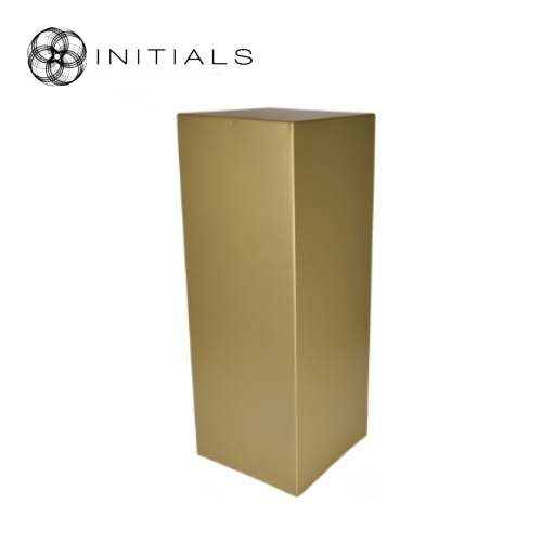 Pillar Wood | Zinc Matt Gold Square