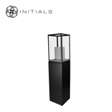Display Pillar L Matt Black & Showcase 30 Clear