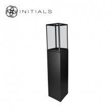 Display Pillar XL Matt Black & Showcase 30 Clear