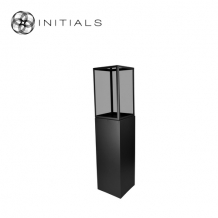 Display Pillar L Matt Black & Showcase 30 Smoke