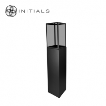 Display Pillar XL Matt Black & Showcase 30 Smoke