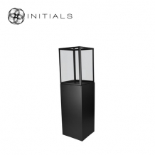 Display Pillar L Matt Black & Showcase 40 Clear