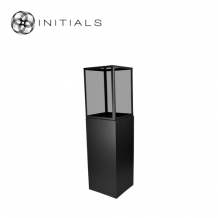 Display Pillar L Matt Black & Showcase 40 Smoke