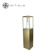 Display Pillar L Matt Gold & Showcase 30 Clear