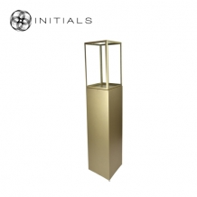 Display Pillar XL Matt Gold & Showcase 30 Clear