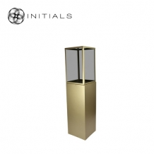Display Pillar L Matt Gold & Showcase 30 Smoke