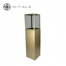 Display Pillar XL Matt Gold & Showcase 30 Smoke