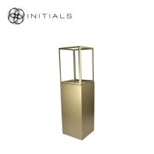 Display Pillar L Matt Gold & Showcase 40 Clear