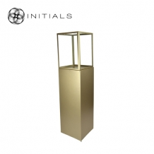 Display Pillar XL Matt Gold & Showcase 40 Clear