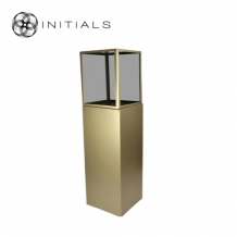 Display Pillar XL Matt Gold & Showcase 40 Smoke