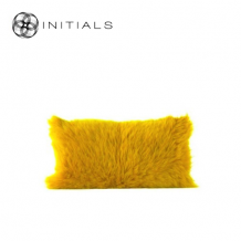 Cushion Goatskin Mustard Yellow