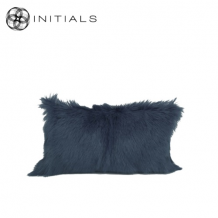 Cushion Goatskin Evening Blue