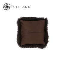 Cushion Sheepskin Coffee Brown