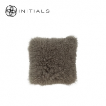 Cushion Sheepskin Sand Taupe