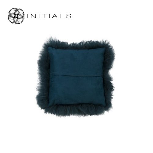 Cushion Sheepskin Ink Blue