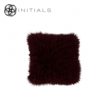 Cushion Sheepskin Wine Bordeaux