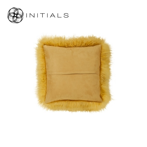 Cushion Sheepskin Mustard Yellow