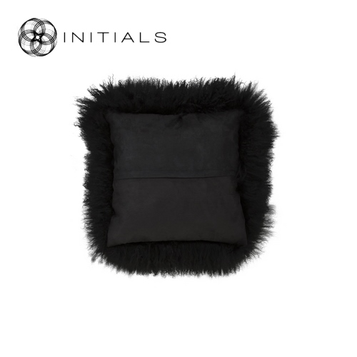 Cushion Sheepskin Night Black
