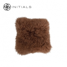 Cushion Sheepskin Rustic Bronz
