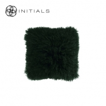 Cushion Sheepskin Army Green