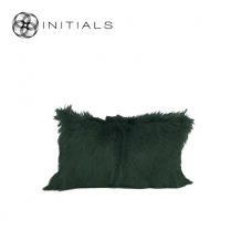 Cushion Goatskin Army Green