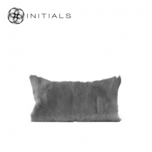 Cushion Goatskin Ash Grey