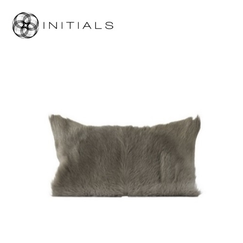 Cushion Goatskin Sand Taupe
