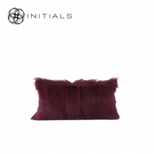 Cushion Goatskin Wine Bordeaux
