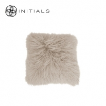 Cushion Sheepskin Champagne White