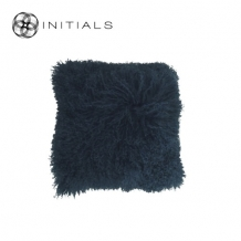 Cushion Sheepskin Evening Blue