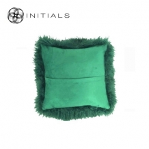 Cushion Sheepskin Lake Green