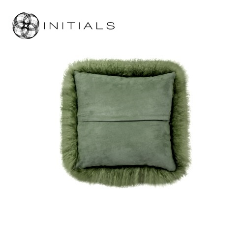 Cushion Sheepskin Olive Green
