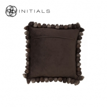 Cushion Cover Pebble Coffee Brown