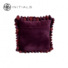 Cushion Cover Pebble Bordeaux Red