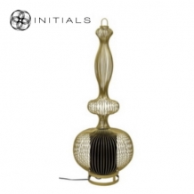 Floor Lamp Oriental  Bold Iron Wire Gold