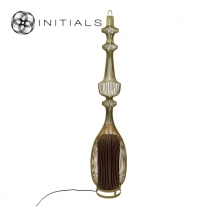 Floor Lamp Oriental Tear Iron Wire Gold