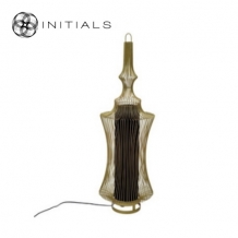 Floor Lamp Oriental Narrow Iron Wire Gold