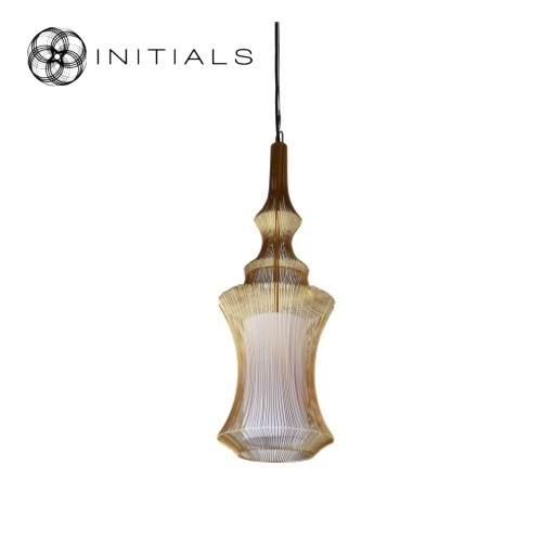 Hanging lamp Iron Wire Gold
