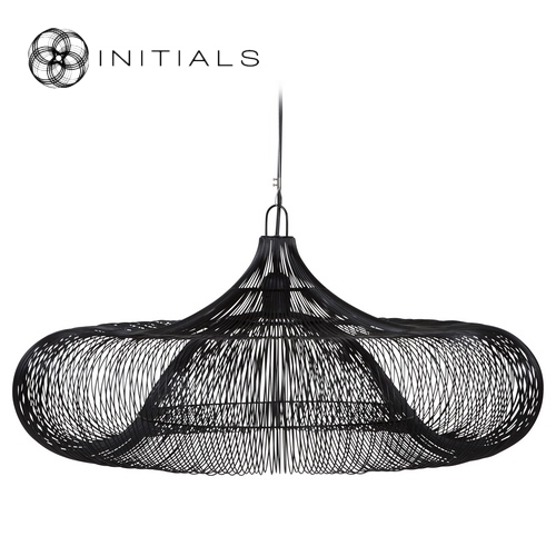 Hanging Lamp Ufo Iron Wire Black